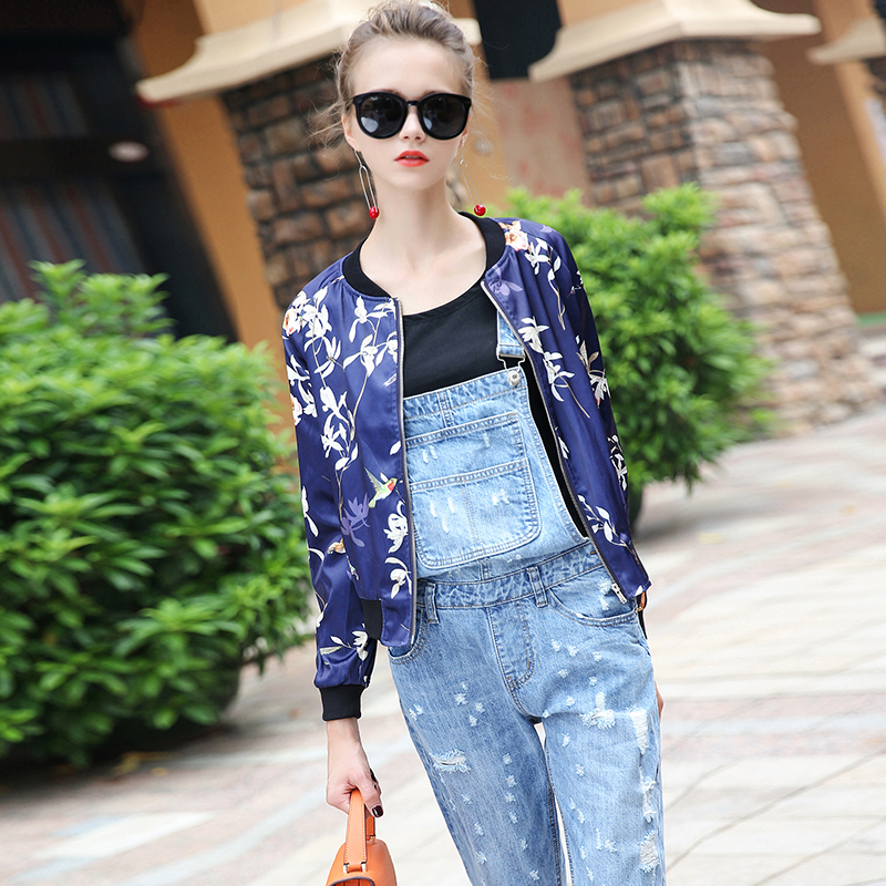 Women Casual baseball jackets 2017 early autumn street style ...