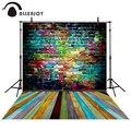 Allenjoy fondo fotográfico De Color ladrillo 10x10ft telones bebé niños photocall Enviar laminado de madera