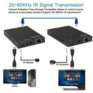 Image 4 - 2020 18Gbps Hdmi Extender 4K Ir 4K X 2K @ 60Hz Hdmi Extender 2 Poort hdmi 2.0 Extender Loop Hdmi Zender Ontvanger Over Cat6 RJ45