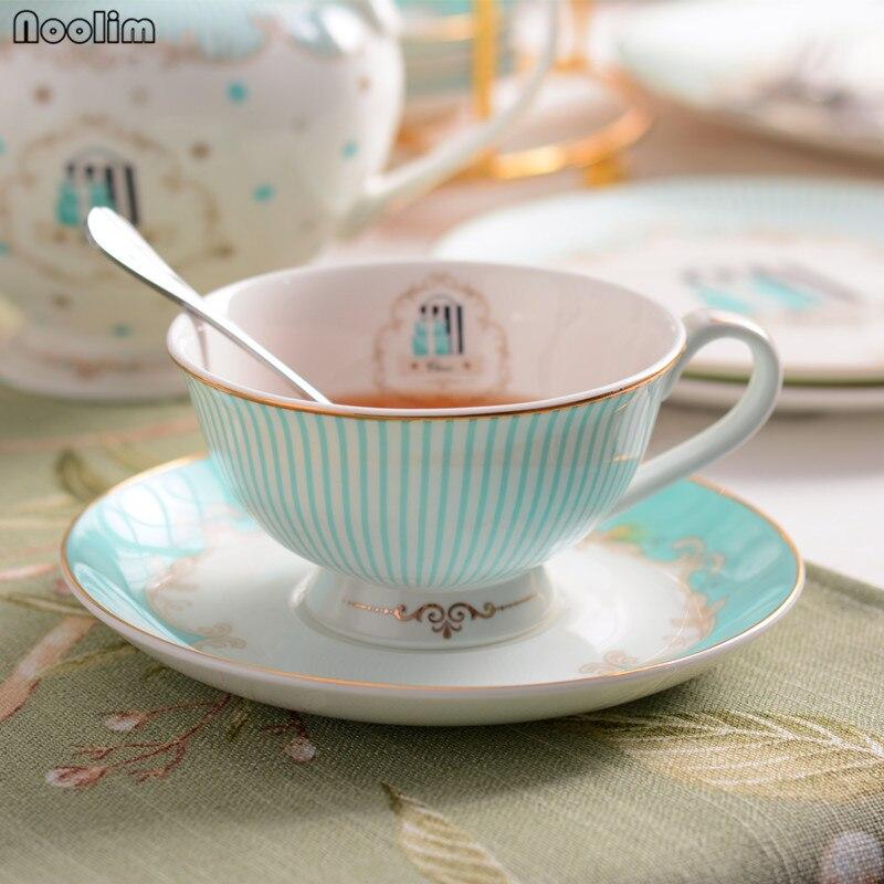 NOOLIM набор керамических чайных чашек и блюдца, дизайнерская фарфоровая кофейная чашка из костяного фарфора, черная чайная чашка, набор посуды для кофе