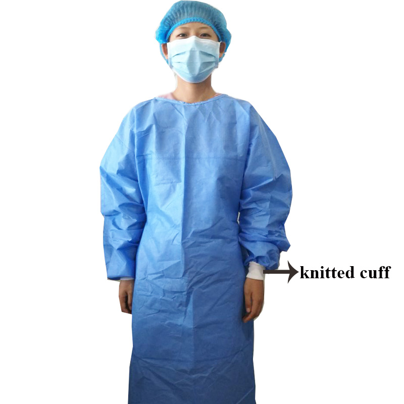 10Pcs/Lot Disposable Surgical Gown Non-Woven Clothes