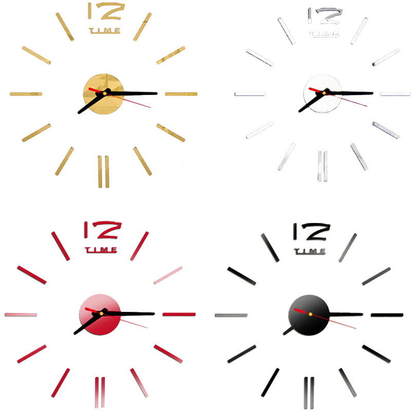 cf1ce2747b New Fashion Wall Clock Acrylic Plastic Mirror Wall Home Decal Decor Vinyl  Art Stickers for Home Bedroom P17