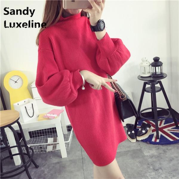 4 Colors font b Women b font Korean Pattern Sweater Autumn Dress Knitted Tops Casual Winter