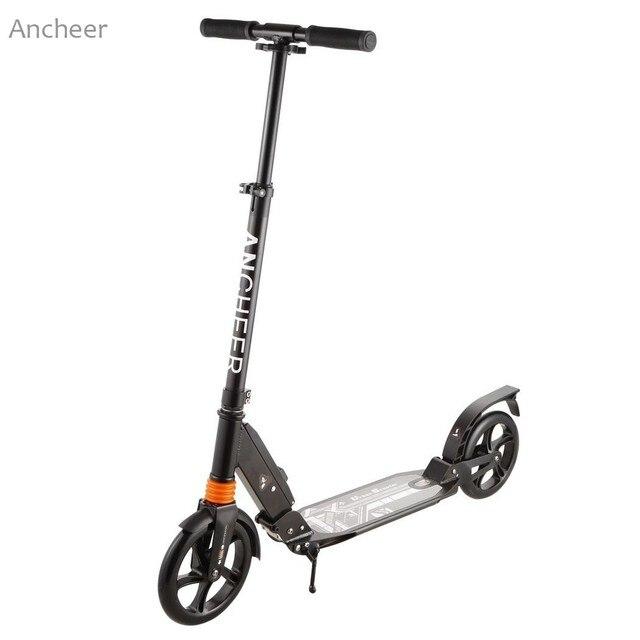 Портативный самокат 2 колеса складные самокаты мини велосипед 3 Уровня регулируемая высота самокат взрослый для фортов