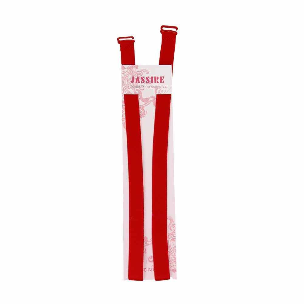 1 пара 1,5 см яркие цвета двойные плечевые регулируемые лямки грудные Пояса эластичные лямки бюстгальтера-MX8