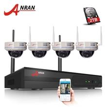 4CH WI-FI NVR Системы Безопасности 1080 P ВИДЕОНАБЛЮДЕНИЯ NVR HDMI 4 ШТ. 2.0 Мегапикселей ИК Купола Ip-камеры Беспроводные Видеонаблюдения Комплект 2 ТБ HDD