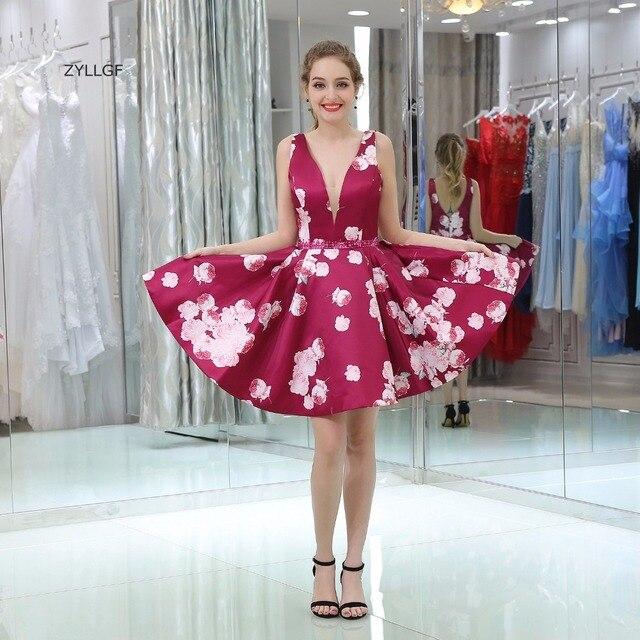 ZYLLGF Estilo Coreano Vestido De Fiesta de La Princesa Profunda V ...