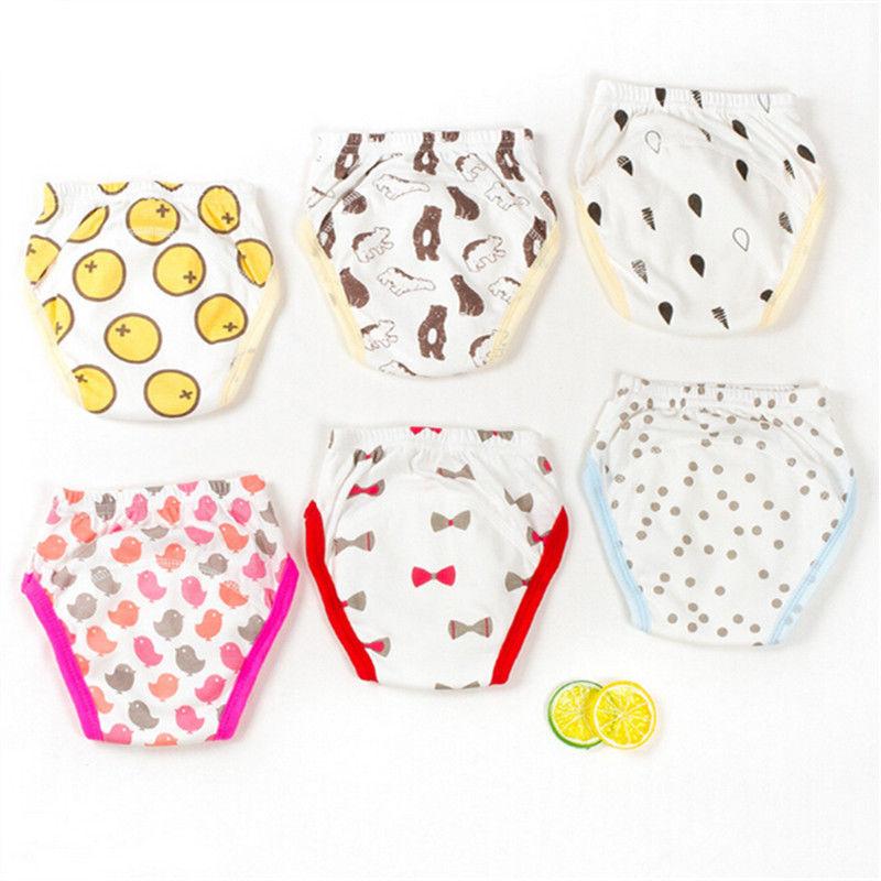 3PCS/Set Cartoon Baby Training Pants Waterproof Diaper Pants Potty Toddler Cotton Panties Briefs 2017 Training Underwear Pants