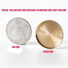 1 unids Alta Calidad Ampliado Shell Super Morgan Dollar moneda trucos de magia accesorio mágico truco apoyos 81340
