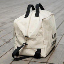 Portable Casual Cross Travel Multipurpose Letters Canvas Shoulder Bag Backpack