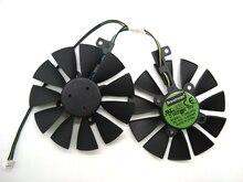 Kostenloser Versand 87mm Kühler Lüfter Für ASUS GTX1060 1070 Ti RX 470 570 580 Grafikkarte Everflow T129215BU 28mm Lüfter