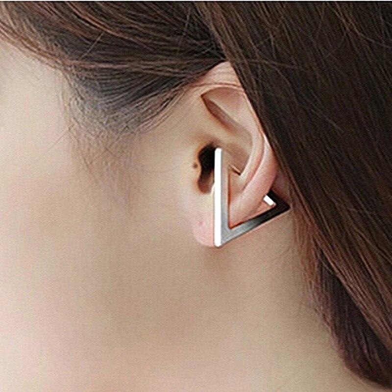 fd9476cd3a4f9 News Punk Girls Leaves leaf Cross Flower Ear Cuff Clip Earrings For ...