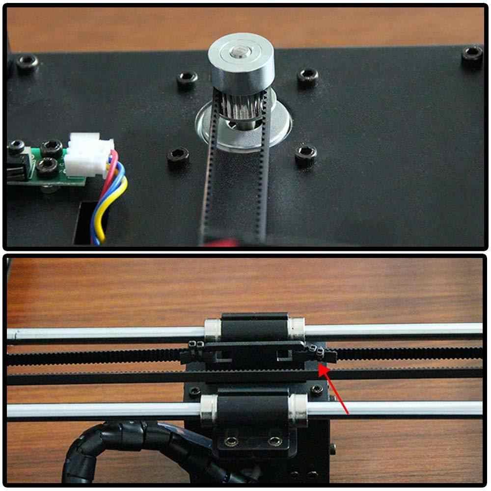 Aokin GT2 Ремень, 5 м GT2 зубчатый ремень 6 мм ширина подходит для 3d принтера RepRap Mendel Rostock Prusa Creality CR-10 Ender 3 Anet A8
