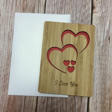 I Love you card bamboo wood greeting card happy valentines day gift invitation card kaaral happy sun bamboo oil
