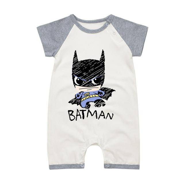 Pyjamas Bébé SUPERMAN/BATMAN – Barboteuse Bébé À Manches Courtes