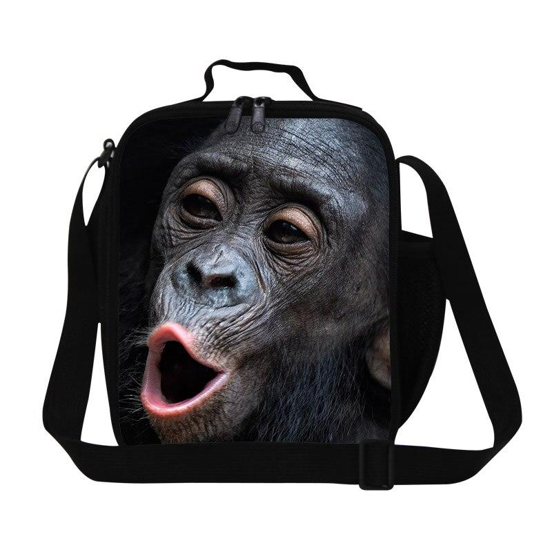 Cute Orangutan Kids Lunch Bag Thermal 3D Animal Printing Lunch Box Womens men Small Travel Picnic Food Bag Lancheira Termica