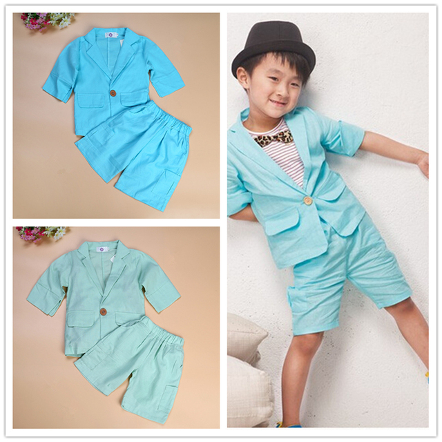 f676c7beaefb Baby Boys Clothes Summer Casual Kids Suit Boys Western style Clothes ...