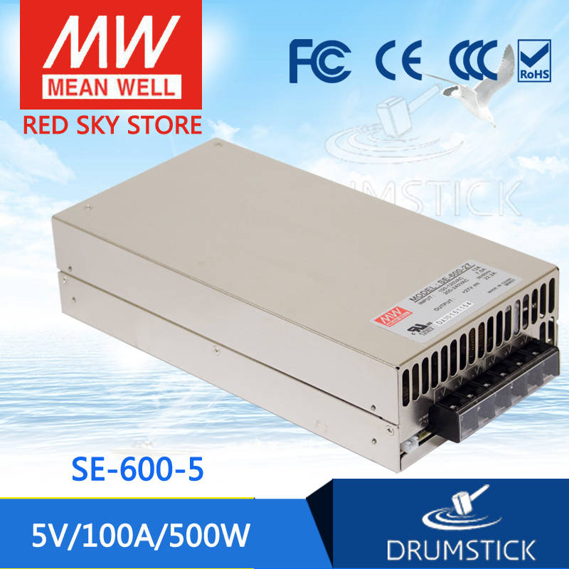 все цены на Selling Hot MEAN WELL SE-600-5 5V 100A meanwell SE-600 5V 500W Single Output Power Supply онлайн
