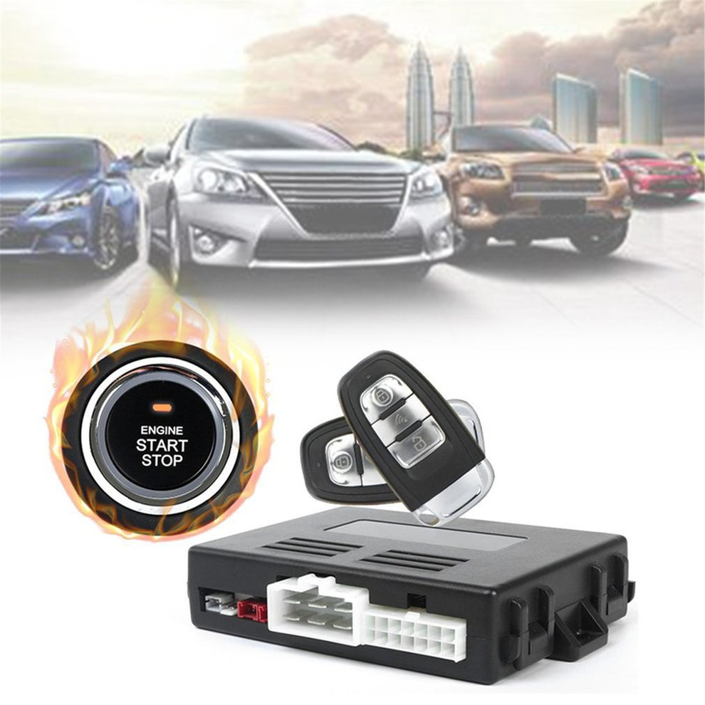 Car Alarm System With Remote Start Car Push Button Start Passive Keyless Entry Auto Central Control Door LockCar Alarm System With Remote Start Car Push Button Start Passive Keyless Entry Auto Central Control Door Lock