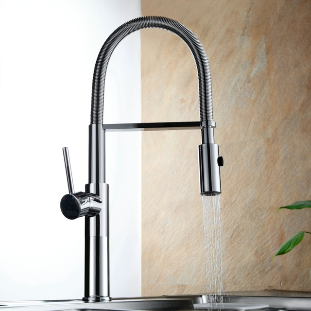 Becola New Design Chrome Modern Pull Down Kitchen Sink Mixer Tap Out Faucet