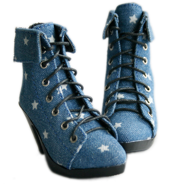 [wamami] 48# Jeans Blue Star Shoes For 1/4 MSD BJD Dollfie High Heels Shoes