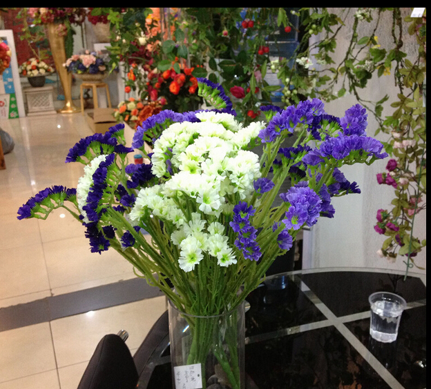 European Style Artificial Flowers Forget Me Not Silk Flowers For