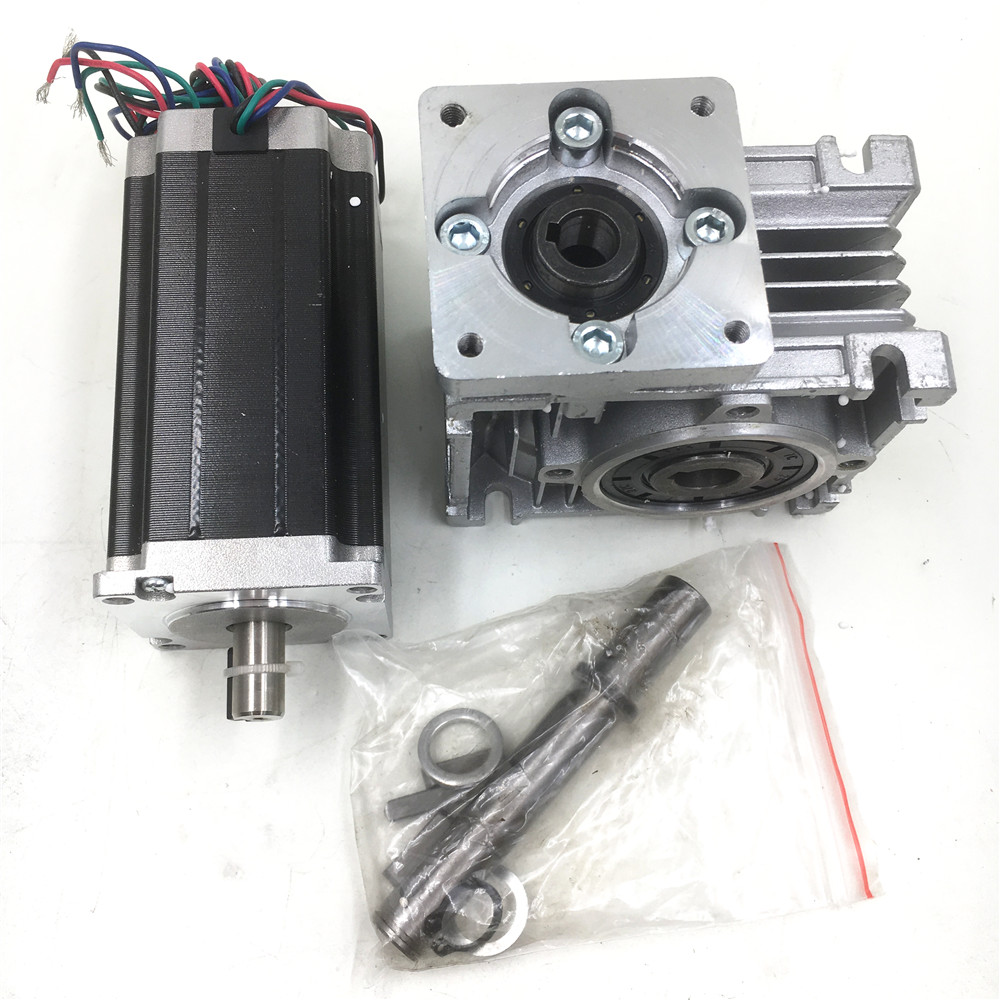 Gear Ratio 20:1 Nema23 Worm Geared Stepper Motor L112mm 4.2A 4 Leads 2phase Hybrid Stepper Motor for CNC Router 4 lead nema 34 worm geared stepper motor with brake and output shaft 8 5n m 1215oz in motor length 118mm worm gear ratio 1 5