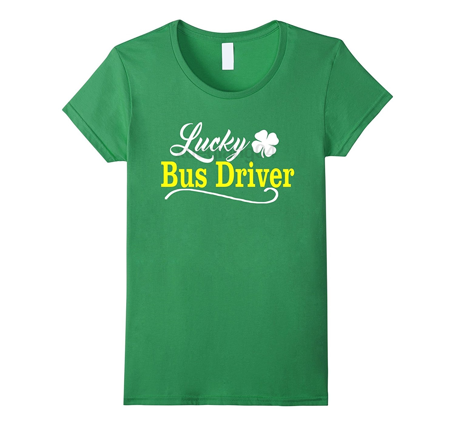 Lucky BUS DRIVER St Patricks Day Holiday Fun School T Shirt