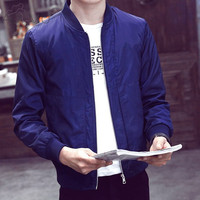AOMU New Arrival Brand Men S Jacket Spring Autumn Fashion Long Sleeve Male Coats Slim Fit