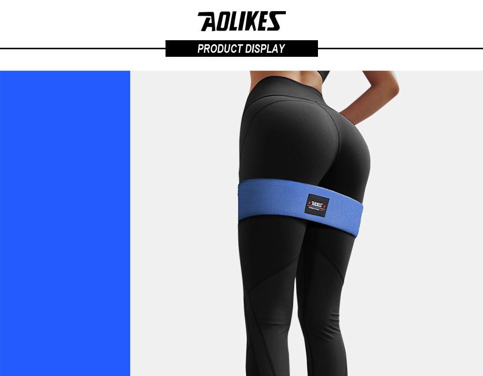 AOLIKES Hip Circle Loop Resistance Band in Non Slip and Non Roll Design for Legs and Thigh 14