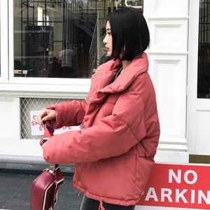 Image 5 - סתיו חורף מעיל נשים מעיל אופנה נשי Stand חורף מעייל דובון חם מזדמן בתוספת גודל מעיל מעיל מעיילי Q811