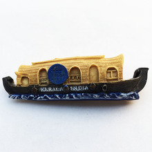 Личи Индия Керала лодка магниты на холодильник 3D Творческий холодильник магнитная наклейка украшение дома путешествия сувениры