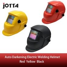 Red/Yellow/Black Solar Auto Darkening MIG MMA Electric Welding Mask/Helmet/welder Cap/Welding Lens for Welding Machine стоимость