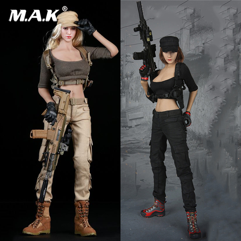 Toys 1/6 Female Shooter Suits Set Costume Clothes FG010 F Phicen Body Suntan Color Skin 12