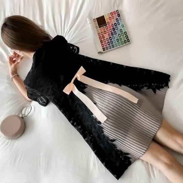 2018 maternity clothes dress spring summer dress loose pregnant women dress chiffon+Lace pregnancy clothes DF177