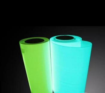 Darmowa wysyłka 25cm x 50cm (10 #8222 x 20 #8221 ) świecić w ciemności folia winylowa do przenoszenia za pomocą ciepła prasa ploter tnący T-shirt DIY folia Film tanie i dobre opinie suruech Papier fotograficzny Glow in the dark