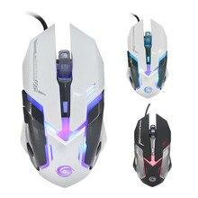 Надежный gaming mouse 3200 ТОЧЕК/ДЮЙМ 6D Кнопки LED Проводная Игровая Мышь Для Портативных ПК мыши gamer