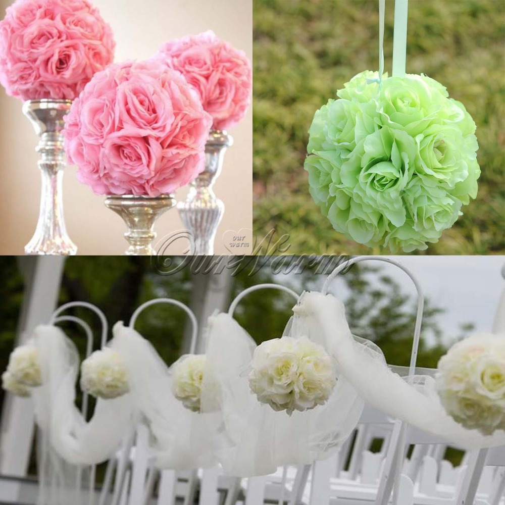 Aliexpress Buy 5pcslot Artificial Silk Flower Rose Balls