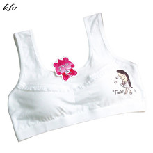 Bra for Kids Cotton Cartoon Figure Lace Underwear for Girls Teens Training Bra For Teenagers Girls Contrast Sport Bralette