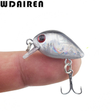 WDAIREN 1Pc Mini Crazy Crank Wobble 3cm 1.2g Artificial winter Hard Fishing Lures Swim bait Japan Crankbait pesca Tackle WD-033