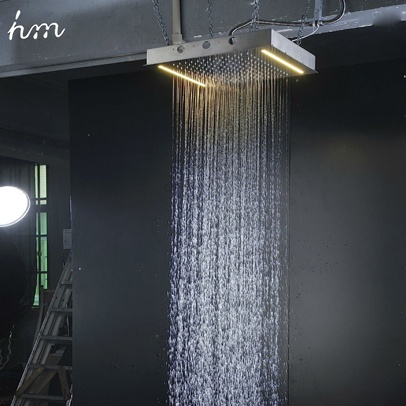 Luxury Shower Systems Ceiling Recessed Rain Heads Led Thermostat  Faucets Set Massage Body Spray Jets in Bathtub from Home