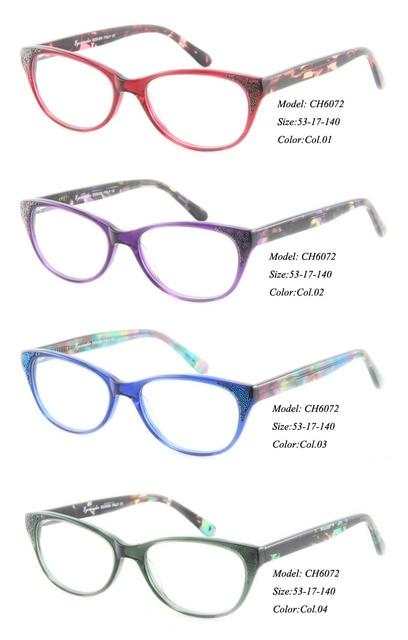 3b120f0002 Eye Wonder High quality Lady s Designer Fancy Handmade Acetate Eyewear  Frames Optik Ready Stock Optical frames CH6072. Price