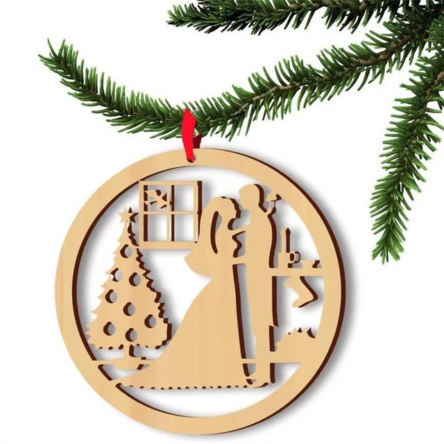 wood crafts laser cut christmas decoration supplieschristmas ornament craft