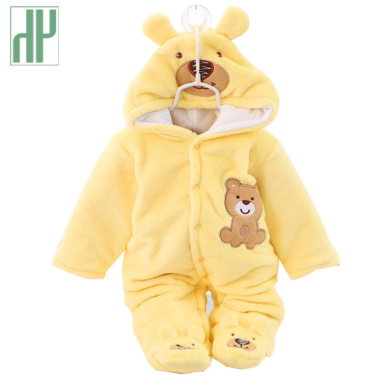 Winter infant clothing cute winter warm longsleeve coral fleece infant warm thick baby boys girls clothes suit newborn outfits