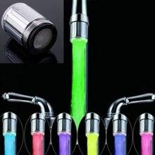 Высокое качество, 7 цветов, светодиодный светильник для воды, меняющий свечение, насадка для душа, кухонные аэраторы для крана