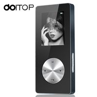 DOITOP Newest MP3 Mini MP4 Player High Fidelity Speaker Walkman With Full Metal Support TF Card