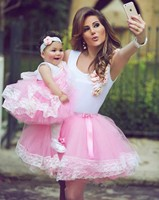 G615 Cute 8th Graduation Prom Dresses Pink Tulle White Satin Evening Dress Short Party Gown vestido de noiva 2019