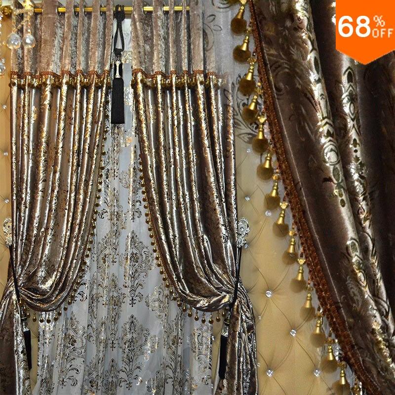 Фиолетовый качество роскошные бархатные толстые белый занавес цвета золота моды Современные темно синий шторы для спальни жалюзи cortinas
