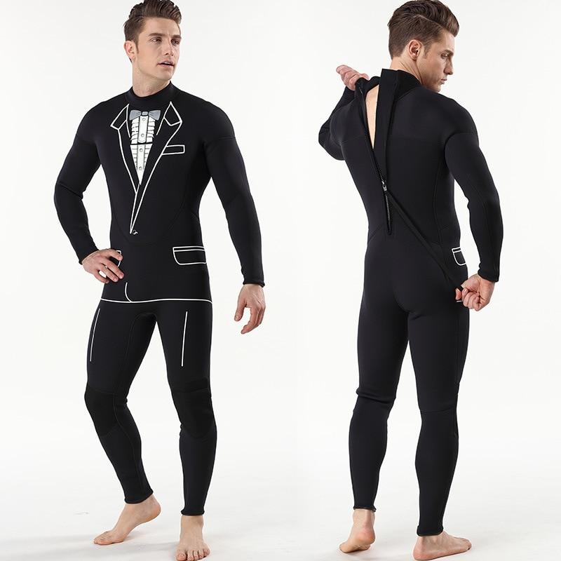 Combinaison de plongée continue 3mm pour hommes combinaison de surf pantalon à manches longues pour combinaison de plongée individuelle