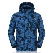 Super Warm Winter -30 Deegree Snowboard Jacket Men Camouflague Printing Skiing Coats For Man Hooded Waterproof Snow Jackets
